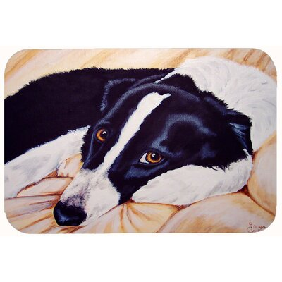 Naptime Border Collie Kitchen/Bath Mat Size: 24 W x 36 L