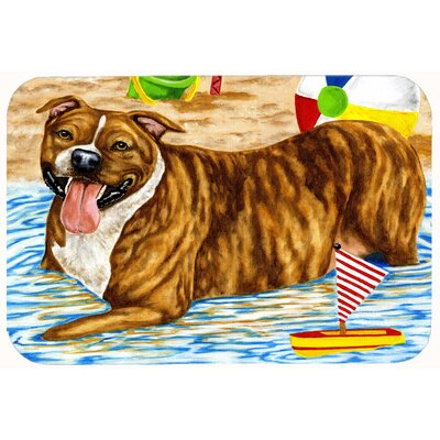 Staffie Kitchen/Bath Mat Size: 24 W x 36 L