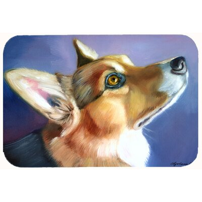 Corgi Devotion Kitchen/Bath Mat Size: 24 W x 36 L