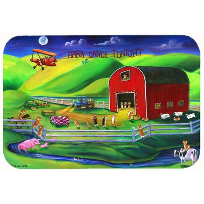 Corgi Barn Dance Kitchen/Bath Mat Size: 24 W x 36 L