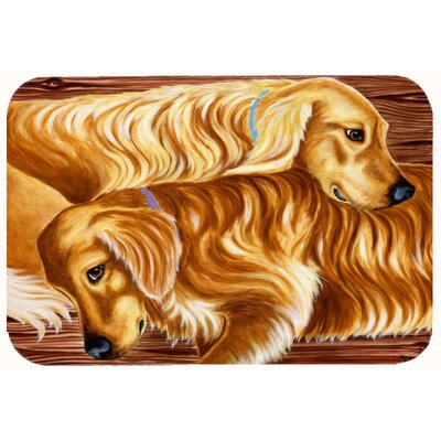 Zeus and Chloie the Retrievers Kitchen/Bath Mat Size: 24 W x 36 L