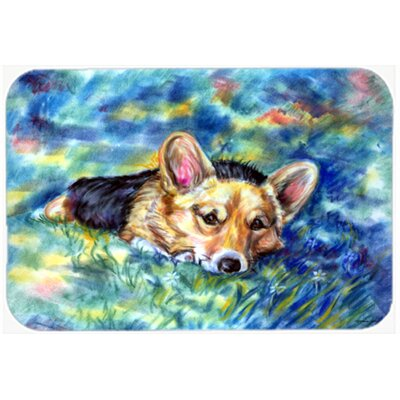 Corgi Tuckered Out Kitchen/Bath Mat Size: 20 W x 30 L