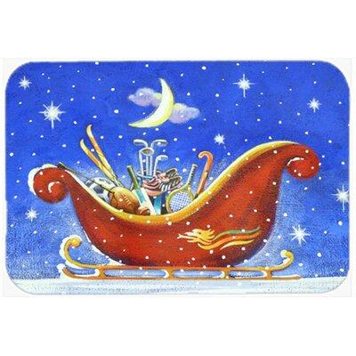 Christmas Santas Sleigh by Roy Avis Kitchen/Bath Mat Size: 20 W x 30 L