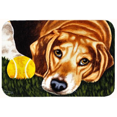 Have Ball Will Travel Beagle Kitchen/Bath Mat Size: 24 W x 36 L