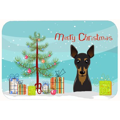 Christmas Tree and Min Pin Kitchen/Bath Mat Size: 24 W x 36 L