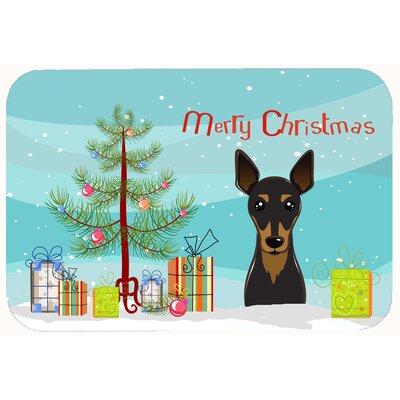 Christmas Tree and Min Pin Kitchen/Bath Mat Size: 24 W x 36 L