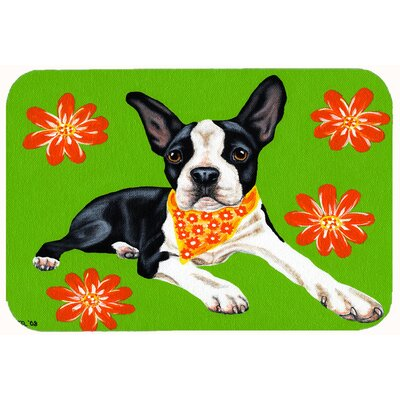 Cosmo Cutie Boston Terrier Kitchen/Bath Mat Size: 24 W x 36 L