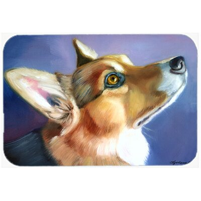 Corgi Devotion Kitchen/Bath Mat Size: 20 W x 30 L