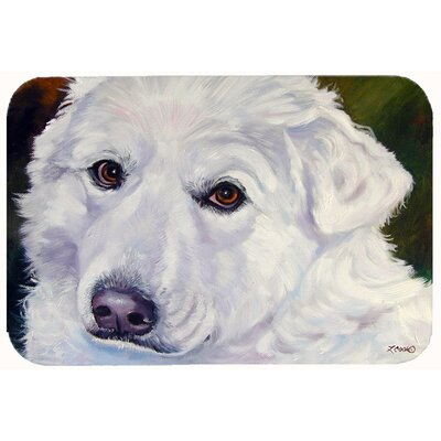 Great Pyrenees Contemplation Kitchen/Bath Mat Size: 24 W x 36 L
