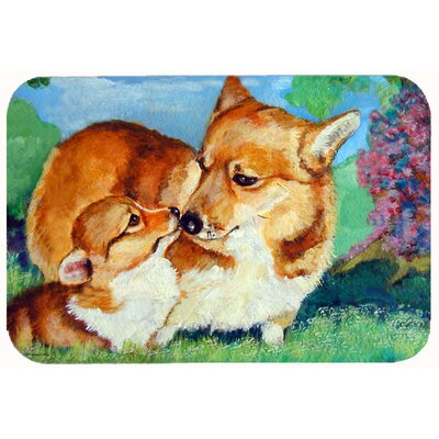 Corgi Mommas Love Kitchen/Bath Mat Size: 24 W x 36 L