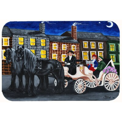 City Carriage Ride Horse Kitchen/Bath Mat Size: 24 W x 36 L