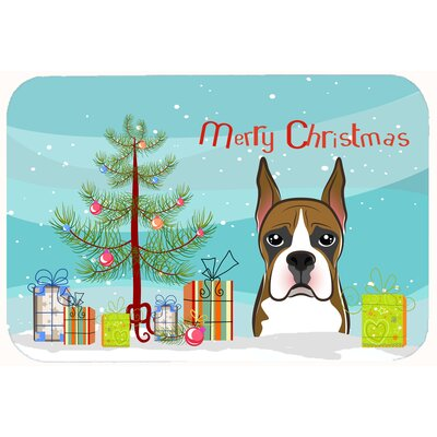 Christmas Tree and Boxer Kitchen/Bath Mat Size: 24 W x 36 L