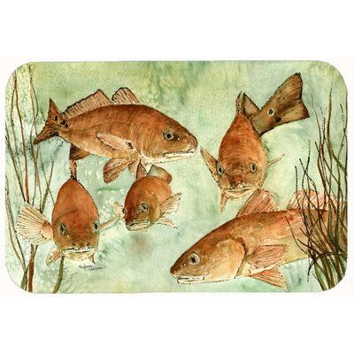 Fish Swim Kitchen/Bath Mat Size: 24 W x 36 L