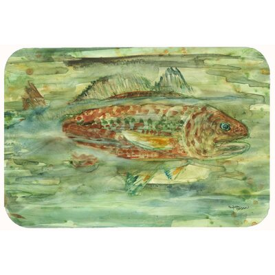 Abstract Fish Kitchen/Bath Mat Size: 24 W x 36 L