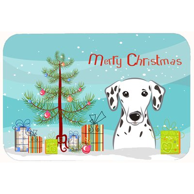 Christmas Tree and Dalmatian Kitchen/Bath Mat Size: 24 W x 36 L