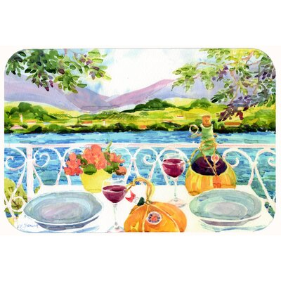 Afternoon of Grape Delights Wine Kitchen/Bath Mat Size: 24 W x 36 L