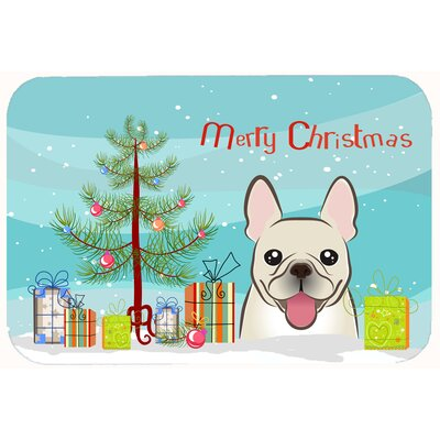 Christmas Tree and French Bulldog Kitchen/Bath Mat Size: 24 W x 36 L