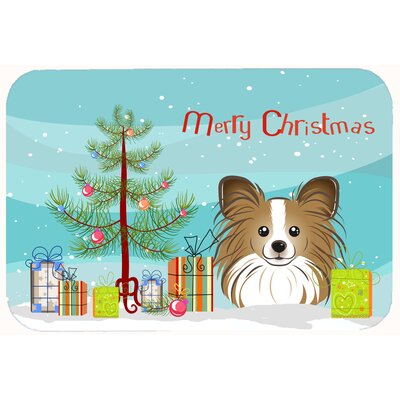 Christmas Tree and Papillon Kitchen/Bath Mat Size: 24 W x 36 L