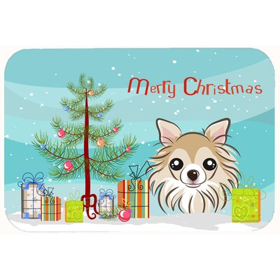 Christmas Tree and Chihuahua Kitchen/Bath Mat Size: 24 W x 36 L