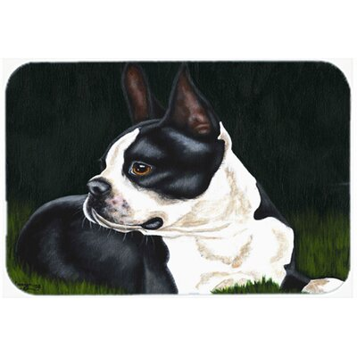Boston Terrier Beauty Kitchen/Bath Mat Size: 20 W x 30 L