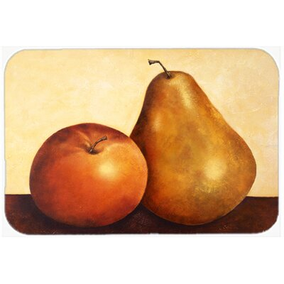 Apple and Pear Kitchen/Bath Mat Size: 24 W x 36 L