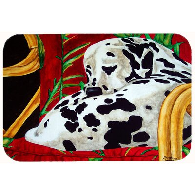 Sunday Nap Dalmatian Kitchen/Bath Mat Size: 24 W x 36 L