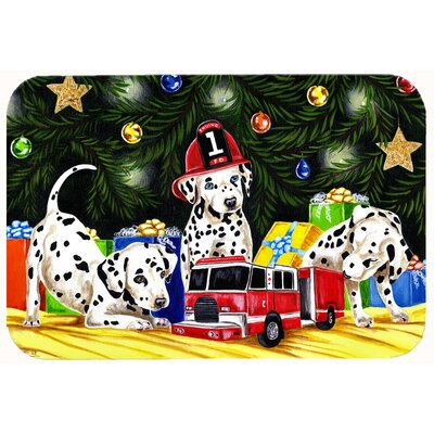 Christmas Favorite Gift Dalmatian Kitchen/Bath Mat Size: 24 W x 36 L