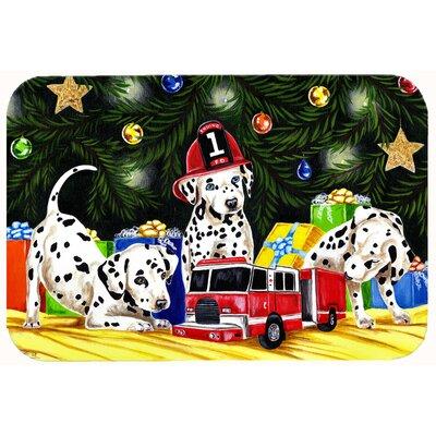 Christmas Favorite Gift Dalmatian Kitchen/Bath Mat Size: 24 W x 36 L