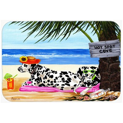 Hot Spot Cove Beach Dalmatian Kitchen/Bath Mat Size: 20 W x 30 L