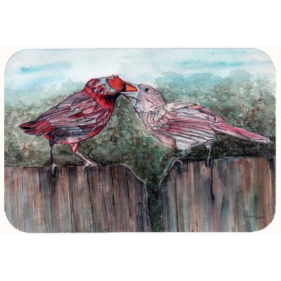 Bird Feeding Kitchen/Bath Mat Size: 24 W x 36 L