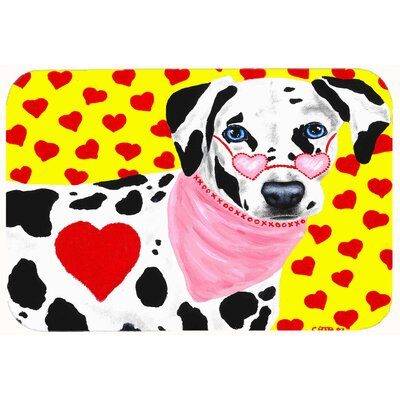 Hearts and Dalmatian Kitchen/Bath Mat Size: 24 W x 36 L