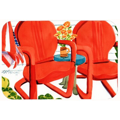 Chairs Patio View Kitchen/Bath Mat Size: 24 W x 36 L