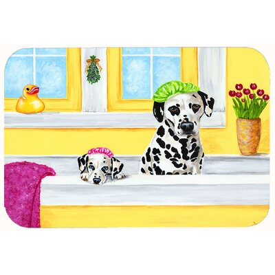Bath Day Dalmatian Kitchen/Bath Mat Size: 24 W x 36 L