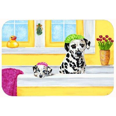 Bath Day Dalmatian Kitchen/Bath Mat Size: 24 W x 36 L