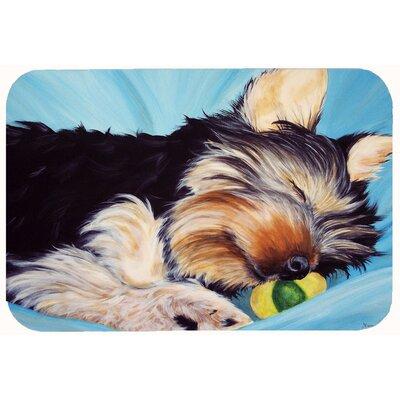 Naptime Yorkie Yorkshire Terrier Kitchen/Bath Mat Size: 24 W x 36 L