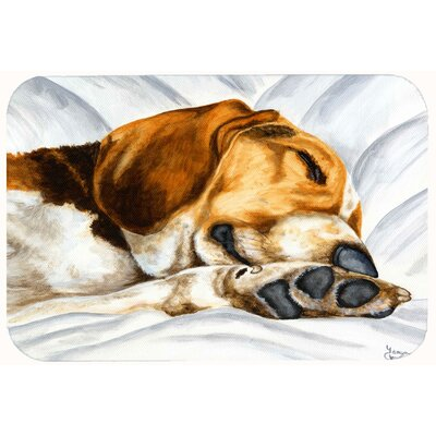 Beagle Bliss Kitchen/Bath Mat Size: 24 W x 36 L