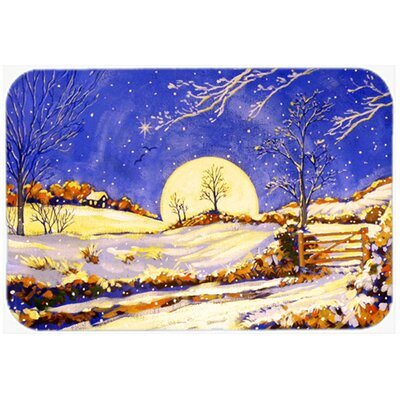 Winter Moonrise by Roy Avis Kitchen/Bath Mat Size: 20 W x 30 L
