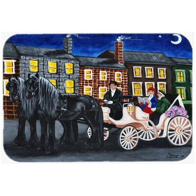 City Carriage Ride Horse Kitchen/Bath Mat Size: 20 W x 30 L