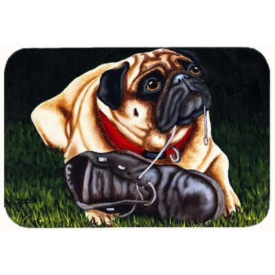 Cluster Buster the Pug Kitchen/Bath Mat Size: 24 W x 36 L