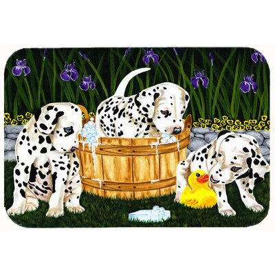 Pass The Soap Dalmatian Kitchen/Bath Mat Size: 24 W x 36 L