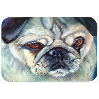 Pug in Thought Kitchen/Bath Mat Size: 20
