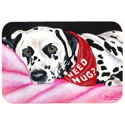 Need a Hug Dalmatian Kitchen/Bath Mat Size: 24 W x 36 L