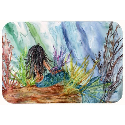 Haired Mermaid Water Fantasy Kitchen/Bath Mat Size: 24 W x 36 L