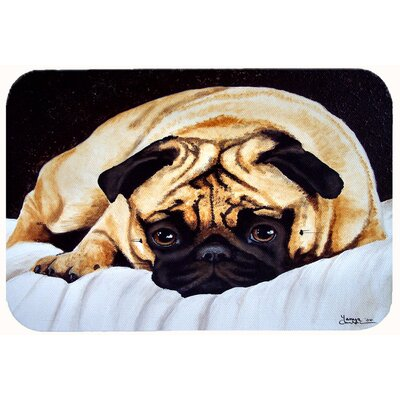 Fred the Pug Kitchen/Bath Mat Size: 24 W x 36 L