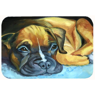 Boxer Pup Kitchen/Bath Mat Size: 24 W x 36 L
