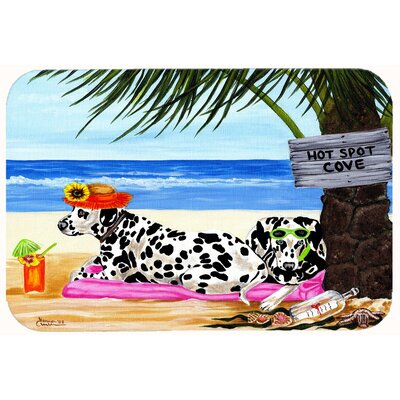 Hot Spot Cove Beach Dalmatian Kitchen/Bath Mat Size: 24 W x 36 L