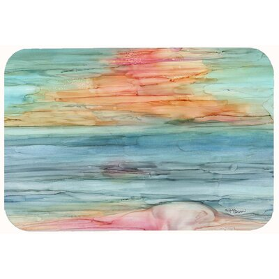 Abstract Rainbow Kitchen/Bath Mat Size: 24 W x 36 L