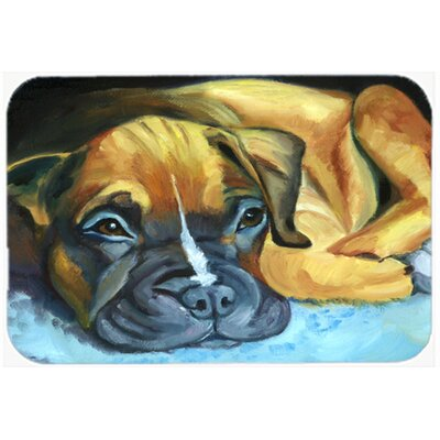 Boxer Pup Kitchen/Bath Mat Size: 20 W x 30 L