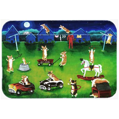 Corgi Backyard Circus Kitchen/Bath Mat Size: 20 W x 30 L