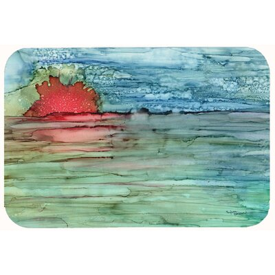 Abstract Sunset on the Water Kitchen/Bath Mat Size: 24 W x 36 L